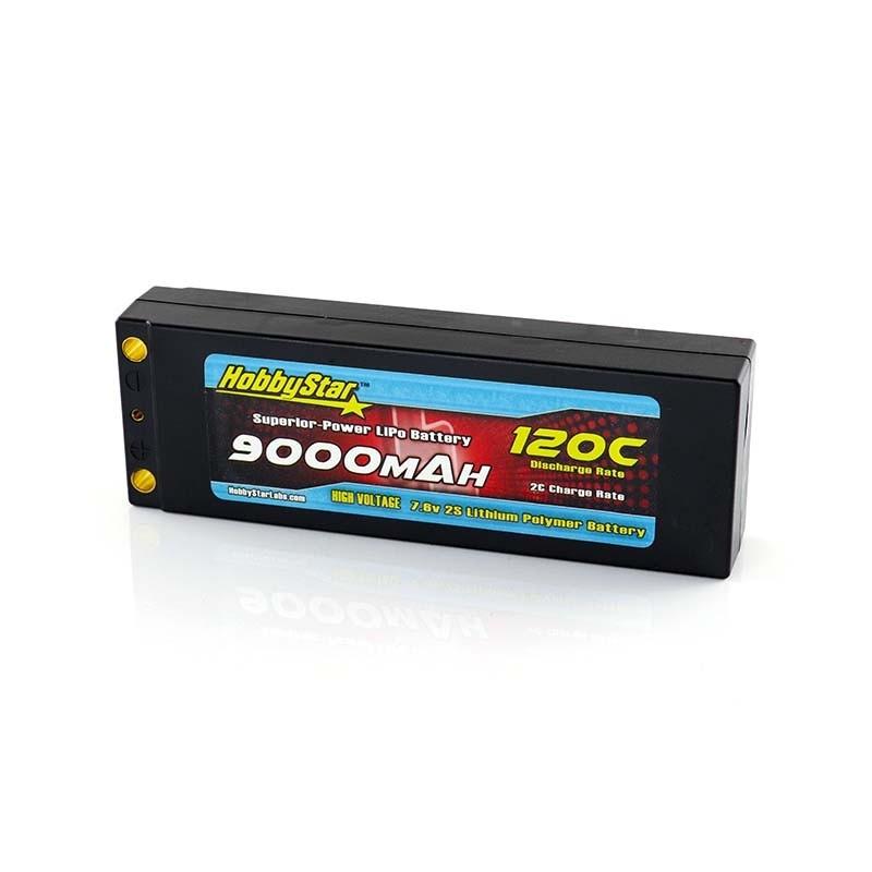 9000mAh 7.6V, 2S HV 120C  Hardcase