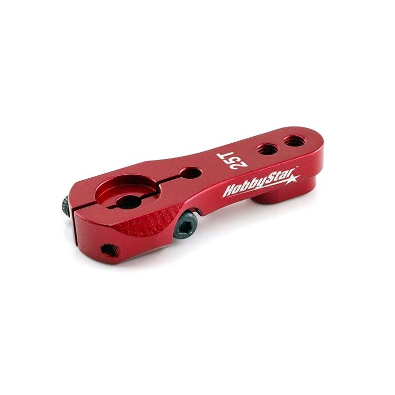 25T HD Clamping Crawler Servo Horn, Red