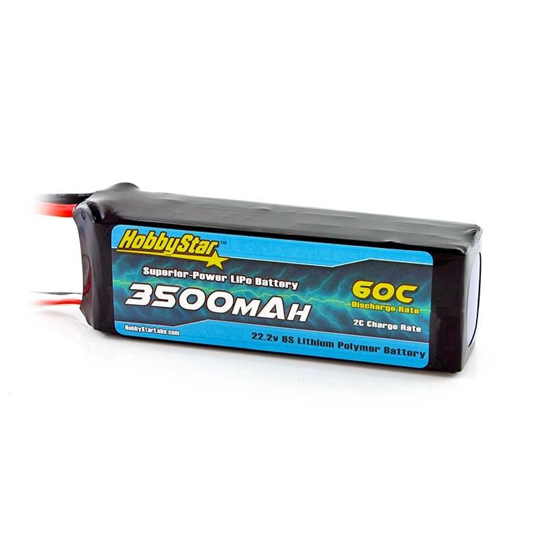 3500mAh 22.2V, 6S 60C
