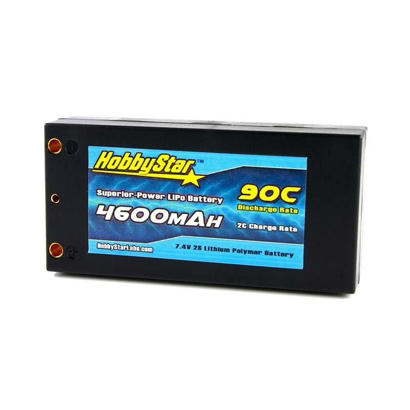 "4600mAh 7.4V, 2S 90C Hardcase ""Shorty"""