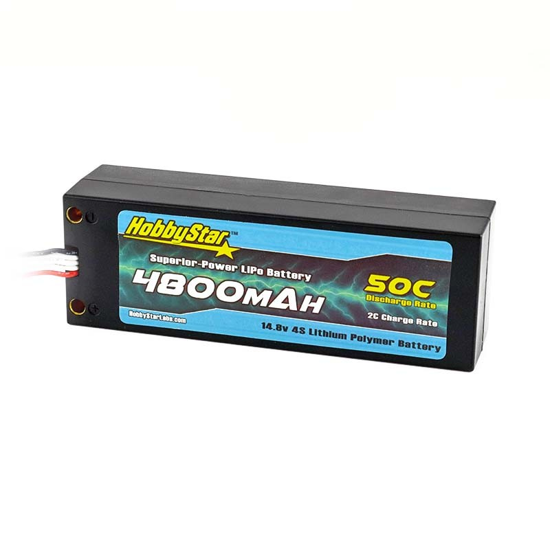 4800mAh 14.8V, 4S 50C Hardcase, Compact