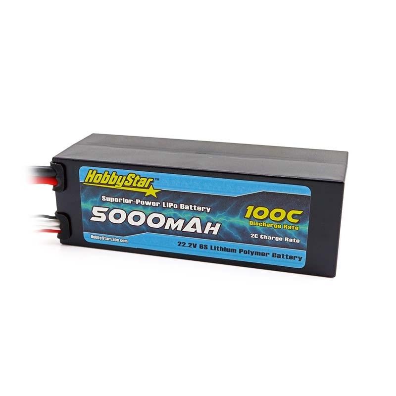 5000mAh 22.2V, 6S 100C Compact Hardcase