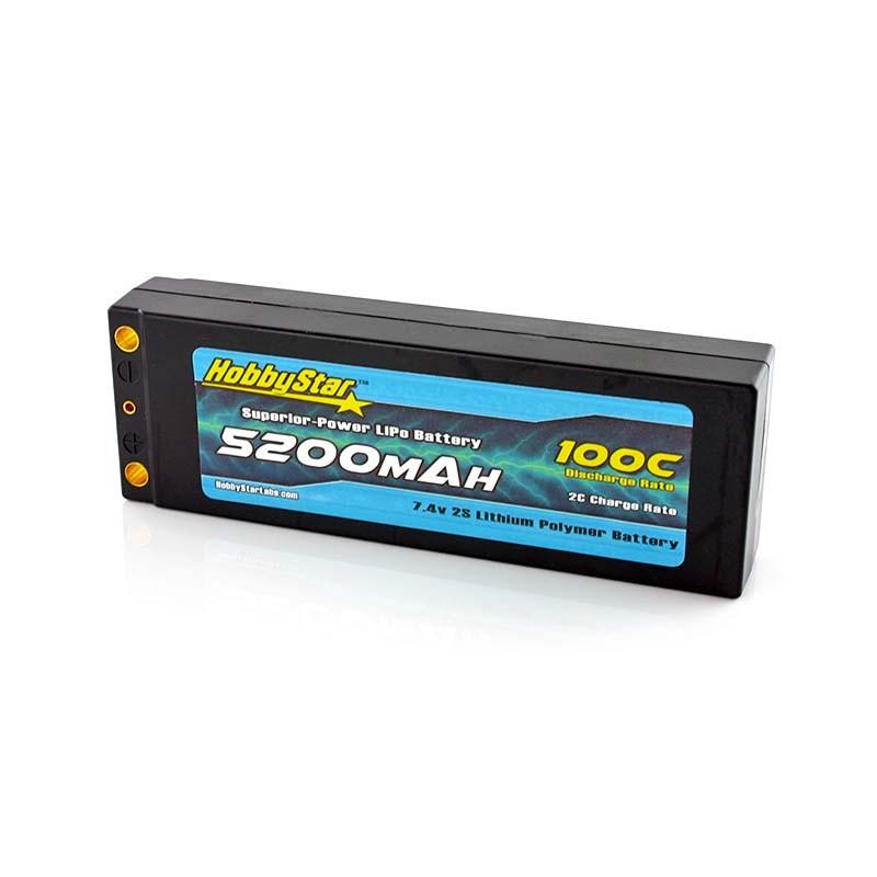 5200mAh 7.4V, 2S 100C Hardcase,Low IR