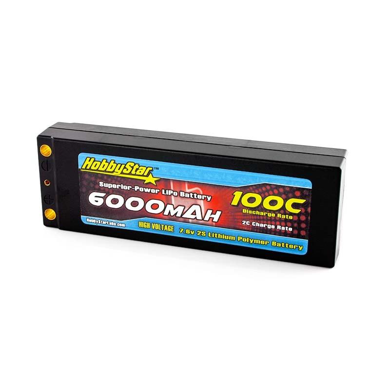 6000mAh 7.6V, 2S HV 100C  Hardcase