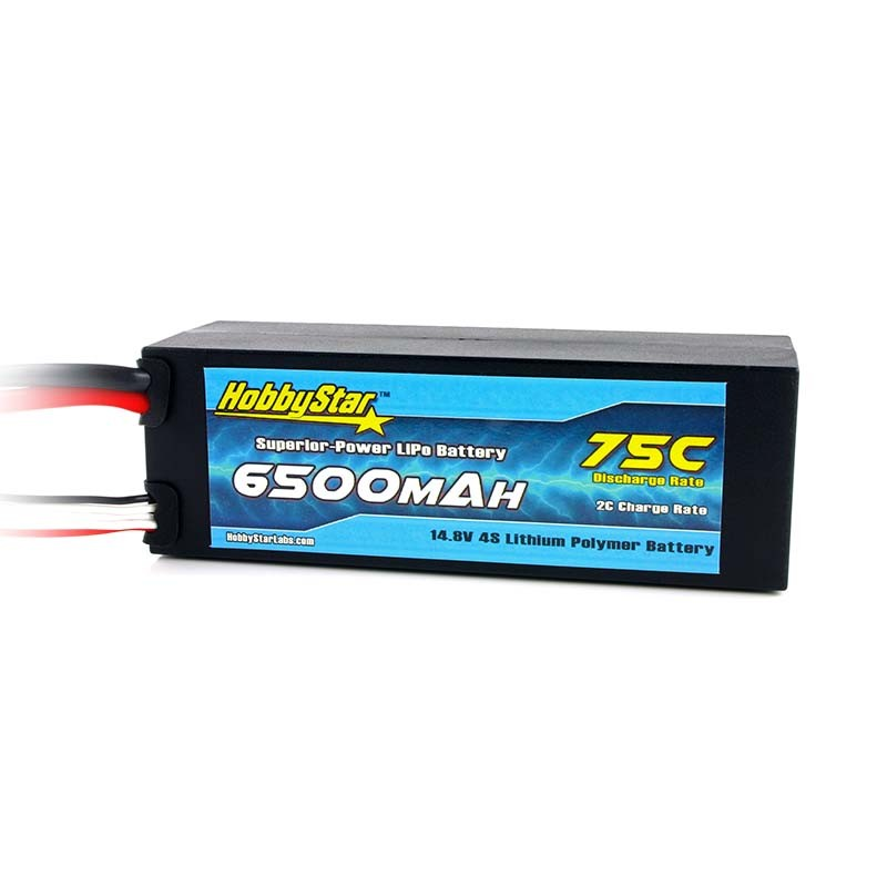 6500mAh 14.8V, 4S 75C Hardcase
