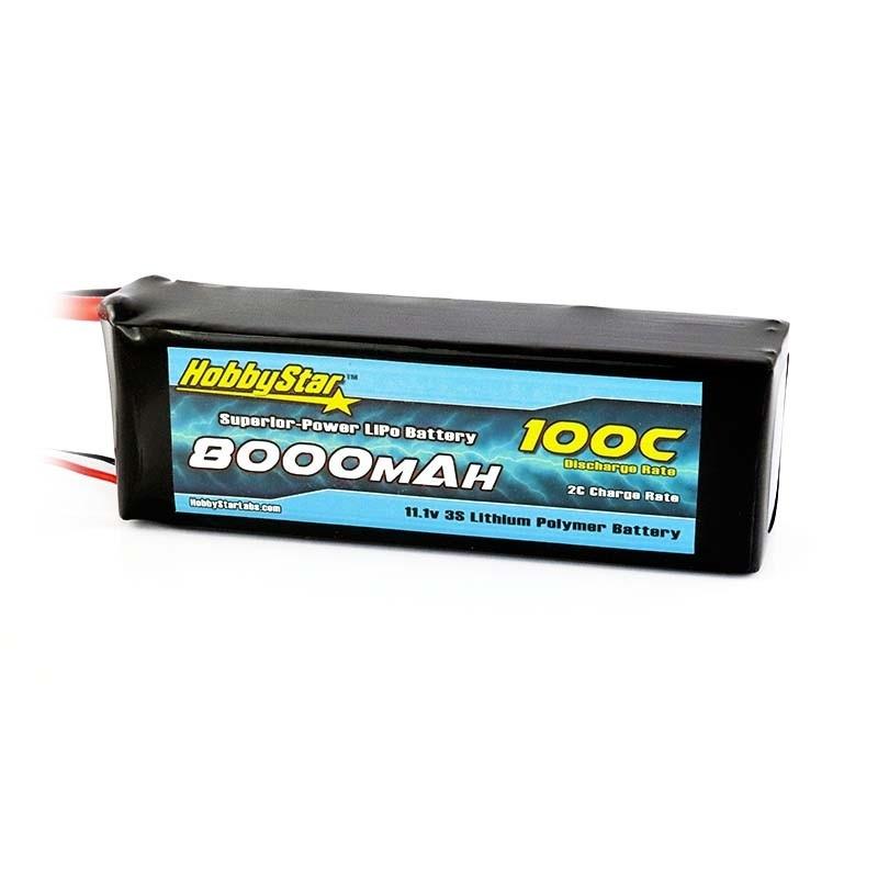 8000mAh 11.1V, 3S 100C