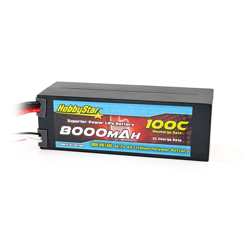 8000mAh 15.2V, 4S HV 100C  Hardcase