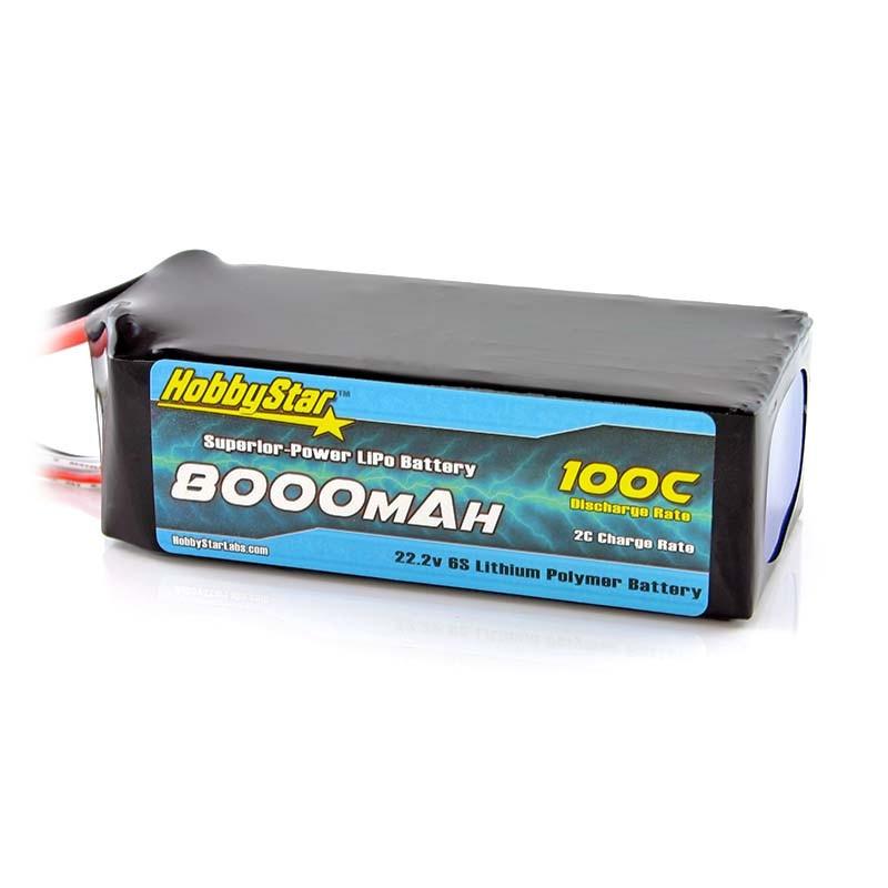 8000mAh 22.2V, 6S 100C