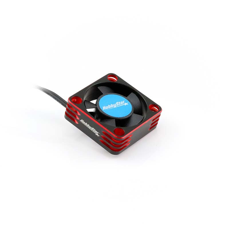 Turbo-Ventilator Aluminum ESC/Motor Fan, 30x30mm, RED