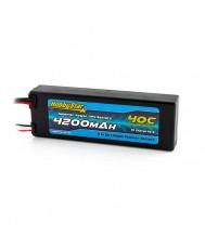 4200mAh 11.1V, 3S 40C Hardcase, Compact