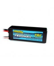 7600mAh 11.1V, 3S 75C Hardcase