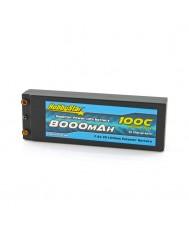 8000mAh 7.4V, 2S 100C Hardcase, Terminal Style Hardcase