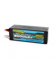 8000mAh 14.8V, 4S 120C Hardcase, Low IR