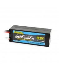 8000mAh 14.8V, 4S 150C Silicone Graphene, Hardcase