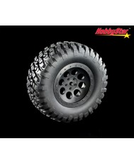 "HobbyStar Crawl-Star Tires On 8-Hole Wheels  (SC 2.2/3.0"" +3-Offset)"
