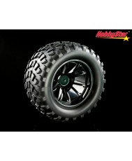 HobbyStar Dirt-Star Tires On Web Wheels, 1/10 MT