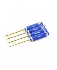 4pc. Hex Driver Set, TiNi Coated, SAE