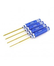 4pc. Ball-End Hex Driver Set, TiNi Coated, Metric