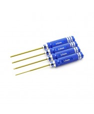 4pc. Hex Driver Set, TiNi Coated, Metric