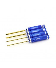 4pc. Screwdriver Set, TiNi Coated
