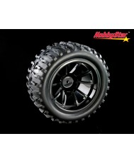 HobbyStar Sling-Star Tires On Web Wheels, 1/10 MT
