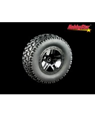 "HobbyStar Terrain-Star Tires On Double Star Wheels  (SC 2.2/3.0"" 0-Offset)"