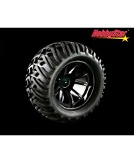HobbyStar Tribal-Star Tires On Web Wheels, 1/10 MT