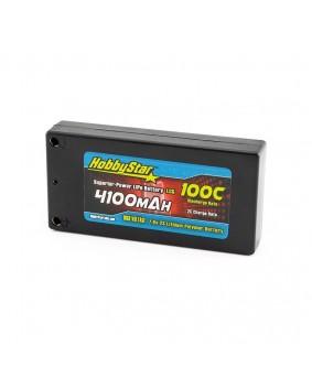 4100mAh 7.6V, 2S HV 100C LCG