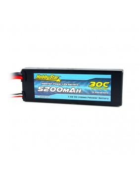 5200mAh 7.4V, 2S 30C Hardcase