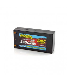 "5600mAh 7.6V, 2S HV 100C Hardcase ""Shorty"" LiPo Battery"