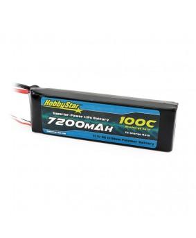 7200mAh 11.1V, 3S 100C