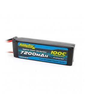 7200mAh 14.8V, 4S 100C