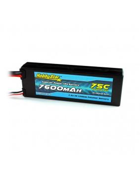 7600mAh 7.4V, 2S 75C Hardcase