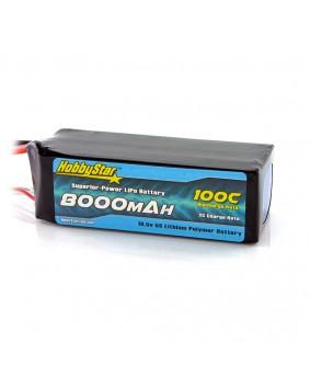 8000mAh 18.5V, 5S 100C