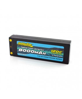 8000mAh 7.4V, 2S 120C, Low IR